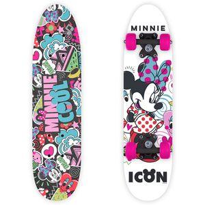 Skateboard Kinder Minnie Mouse Bunt 55x14,5x9,5cm Kunststoff für Anfänger mit ABEC-7 Kugellager Polyurethanräder