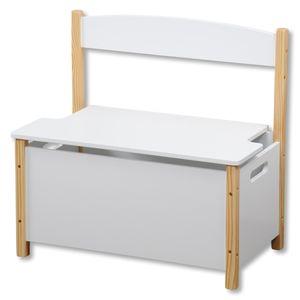 Kinder-Sitzbank, weiß, Maße: 60 x 34,5 x 56 cm