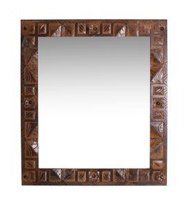 SIT Möbel Wand-Spiegel aus recyceltem Altholz | braun | B 68 x T 8 x H 79 cm | 05190-30 | Serie ALMIRAH