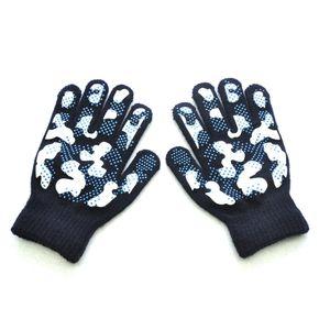 Kinder Winter warm gestrickt Wapiti Camouflage Pint Screen süße Handschuhe LRR91014616 Größe:Einheitsgröße,Farbe:Hellblau