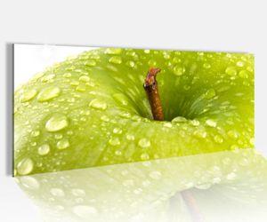 Acrylglasbild 100x40cm Apfel grün Obst Wasser Tropfen Küche  Acrylbild Glasbild Acrylglas Acrylglasbilder 14A2172
