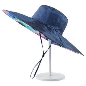 Königsblau Sonnenhut Sonnenschutz im Freien und UV-Schutz Hut mit Großer Krempe Hut Mütze Cap