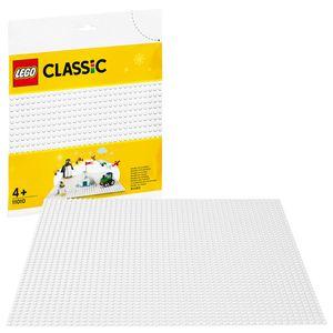 LEGO 11010 Classic Weiße Bauplatte 25 cm x 25 cm für Winter-Sets, Grundplatte