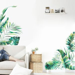 Tropical Plant Leaf Decal | Abnehmbarer selbstklebender Raumwandaufkleber