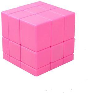 Lernspielzeug Irregular Spiegel Zauberwürfel 3D Magic Puzzlewürfel (3x3 Rosa)