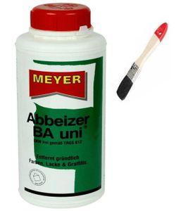 wasseremulgierbares Abbeizmittel 0,75 Liter, biologisch abbaubar, Lackentferner Farbentferner Entlacker Abbeizer BA Uni inkl. Pinsel von E-Com24