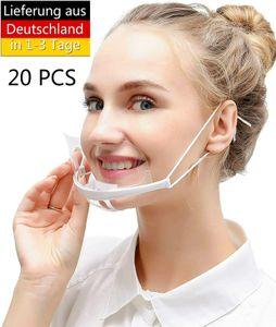 Gesichtsvisier, 20 Stück Waschbare Gesichtsschutzschilder, Universales Schutzvisier zum Schutz vor Flüssigkeiten Gesichtsschutz für Mund Transparent