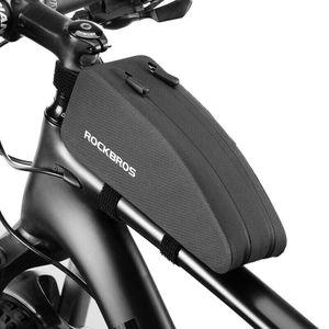 ROCKBROS Fahrrad Rahmentasche Wasserdichte Oberrohrtasche für MTB Rennrad 1.6L