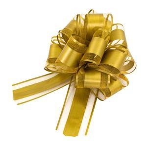 Oblique Unique Geschenkschleife Deko Schleife für Geschenke Tüten Zuckertüte Weihnachten Geschenkdeko - gold
