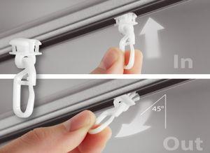 rewagi  80 Stück Switchgleiter, Gardinenhaken für Innenlaufschienen und Profile Gardinenschienen Spurbreite / Laufnut 6 mm
