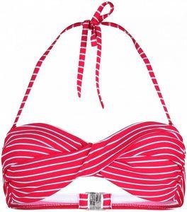 Stuf St. Tropez 4-L Bandeau Bikini Top Damen pink weiß : 42 Größe: 42