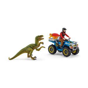 Schleich Flucht auf Quad vor Velociraptor 41466