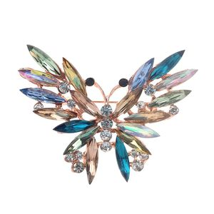 Brosche Pin Diamant Schmetterling Hochzeit Braut Strass Schal Clip Clip Damen Schmuck LZX90919734
