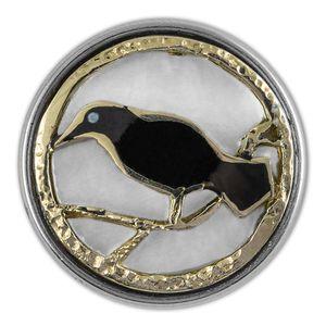 Noosa Chunk Raven Muschel Harz weiß schwarz gold