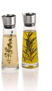 Blomus Essig- und Öl-Set ALINJO, Glas mit Edelstahl matt kombiniert