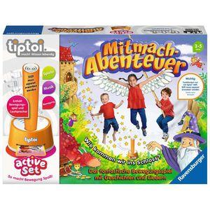 RAVENSBURGER tiptoi® active Set Mitmach-Abenteuer Lernspielzeug Kinderspiel ab 3