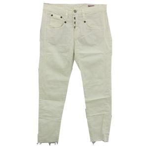 23573 Herrlicher, Shyra Cropped,  7/8 Damen Jeans Hose, Stretchdenim, white, 29W / 26L
