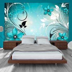 Vlies Tapete ! Top ! Fototapete ! Wandbilder XXL ! 350x256 cm  BLUMEN ORNAMENT DESIGN b-A-0044-a-c