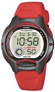 Casio Kinderuhr LW-200-4AVEG Armbanduhr rot Digitaluhr