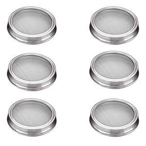 G.a HOMEFAVOR Sprossengl?ser Deckel, Set Bestehend aus 6 Glasdeckeln aus Edelstahl Passend fš¹r Weithals-Einmachgl?ser fš¹r die Herstellung von Spr?sslingen Samen fš¹r Zuhause