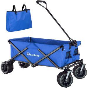 tectake Faltbarer Bollerwagen max. 80kg - blau