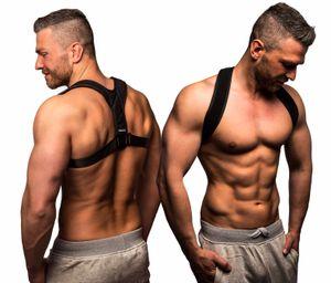ActiveVikings Geradehalter zur Haltungskorrektur Ideal für eine aufrechte Körperhaltung - Rückenbandage Rückenstabilisator für Damen und Herren ( Größe M )