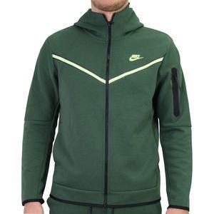 Nike Tech Fleece Hoodie Kapuzenpullover Herren Grün (CU4489 337) Größe: L