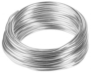 10m Meter Basteldraht 3mm, Schmuckdraht Aludraht Dekodraht Aluminiumdraht rostfreier Draht in Silber