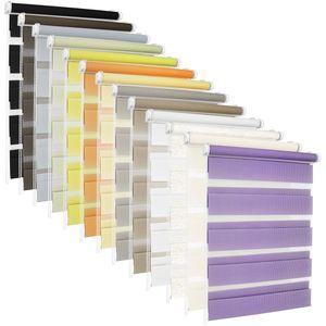 TEXMAXX® Doppelrollo Klemmfix ohne Bohren - 85 x 130cm ( Stoffbreite 81 cm ) - in Weiss - inkl. Zubehör - Rollo - Rollos für Fenster ohne Bohren (RDN85x130-01)