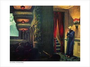 Hopper, Edward New York Movie, Kino 1939 Grösse 80x60 Kunstdruck Artprint