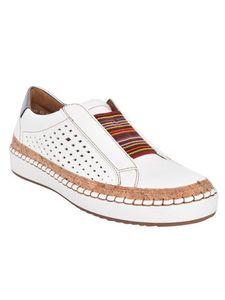 Damen Lässige Sportschuhe Hohle Atmungsaktive Loafer Mode Flache Schuhe,Farbe: Weiß,Größe:41