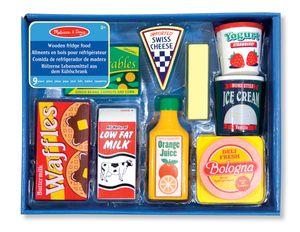 Lebensmittel aus Holz für den Kühlschrank