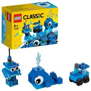 LEGO 11006 Classic Blaues Kreativ-Set, Starter-Set, Spielzeug für Vorschulkinder ab 4 Jahren