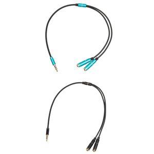2 Stk. Audio Klinken Y-Splitter Kabel 3,5mm Stereo Stecker auf 2x 3,5mm Buchsen Verlängerungskabel
