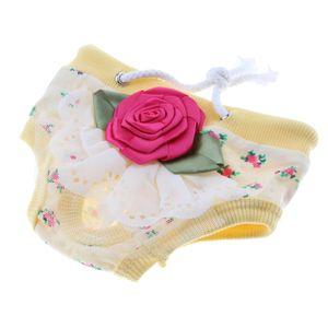 Windeln Waschbar u0026 Wiederverwendbar Hündin Windeln Menstruation Unterwäsche Gelb S wie beschrieben