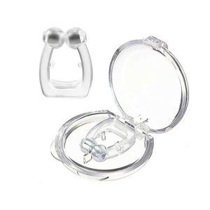 2x Anti Schnarch Ring Schnarch stopper Nasenclip + Magnet Slumber Nasenclip Clip Schnarchschiene Nasendilatatoren