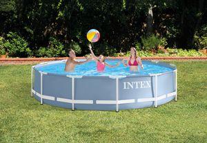 Intex Pool Ø 366 x 76 cm, Prismenrahmen, incl. Filterpumpe