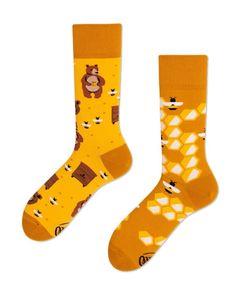 Many Mornings HoneyBear Socken Musterung, Größe:43-46