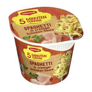 Maggi 5 Minuten Terrine Spaghetti in cremiger Schinken Sauce 64g
