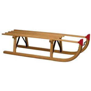 BEST HOME- Outdoor Nijdam Davoser Holzschlitten 100 cm 0273Sportartikel,Hochwertiger,Wintersport,-Aktivitäten,Schlitten💜9868