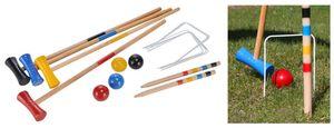 Holz Crocket Krocket Spiel Krocketspiel Holzspielzeug Spielzeug Stecktore Kugeln