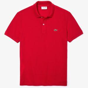 Lacoste Polo Shirt Slim Fit Herren Rot, Größe:L