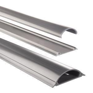 Hama PVC Kabelkanal halbrund 100 x 7 x 2,1 cm grau