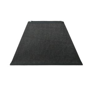 Lampenschirm für E14|E27 Fassungen Schwarz Leinenoptik 18 cm  Polyester/Baumwolle