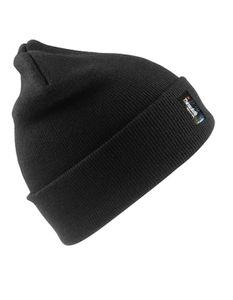 Woolly Ski Hat 3M Thinsulate Beanie Wintermütze - Farbe: Black - Größe: One Size