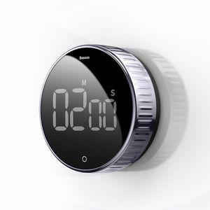 Baseus Digitaler Küchentimer mit Magnethalterung,Küchenwecker Kurzzeitwecker Magnetisch LCD-Bildschirm