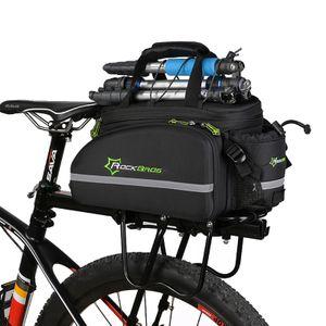 ROCKBROS Fahrrad Hinter Gepäckträgertasche Kameratasche Schwarz ca,35L mit Regenschutz