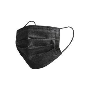 SevenSol Atemschutzmasken 100 Stk. Mundschutz 3-lagig Vlies, Einwegmasken, Mund-Nasen-Schutzmasken, Farbe Schwarz, SS0241020