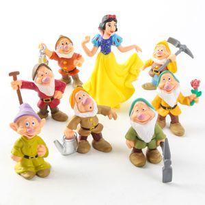 8 Stück/Set Schneewittchen und die Sieben Zwerge Aktionsfiguren Spielzeug 6-10cm Prinzessin PVC-Puppen Sammlungsspielzeug für Kinder Geburtstagsgeschenk