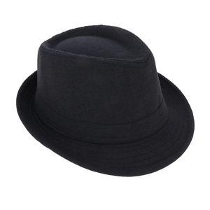 1 Stück Fedora-Hut , Schwarz 58 cm